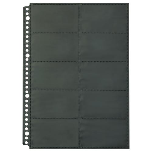 キングジム SHOT DOCS 名刺ホルダー 替え台紙 A4タテ 2列5段 20ポケット 36SDD 1パック(10枚)