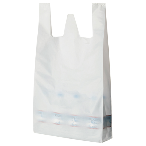 TANOSEE 乳白レジ袋 80号 ヨコ370×タテ800×マチ幅170mm 1パック(100枚)
