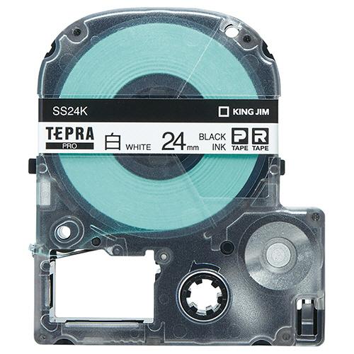 キングジム テプラ PRO テープカートリッジ 24mm 白/黒文字 エコパック SS24K-10PN 1セット(30個:10個×3パック)