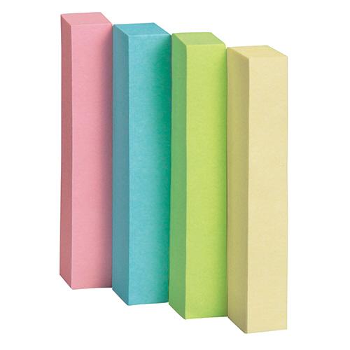 TANOSEE ふせん 50×7.5mm 4色混色 1セット(120冊:24冊×5パック)