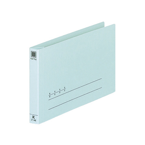 コクヨ 伝票用フラットファイル 振替伝票サイズ 2穴 150枚収容 背幅18mm 青 フ-46 1セット(10冊)