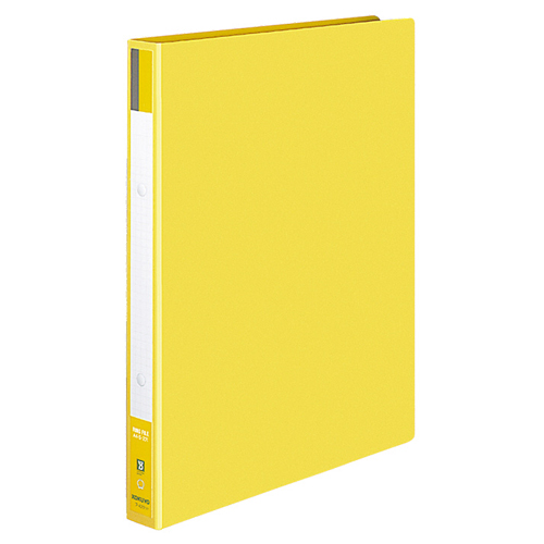 コクヨ リングファイル 色厚板紙表紙 A4タテ 2穴 170枚収容 背幅30mm 黄 フ-420Y 1セット(10冊)