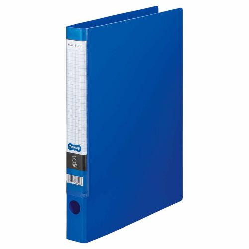 TANOSEE Oリングファイル A4タテ 2穴 170枚収容 背幅35mm ブルー 1セット(10冊)