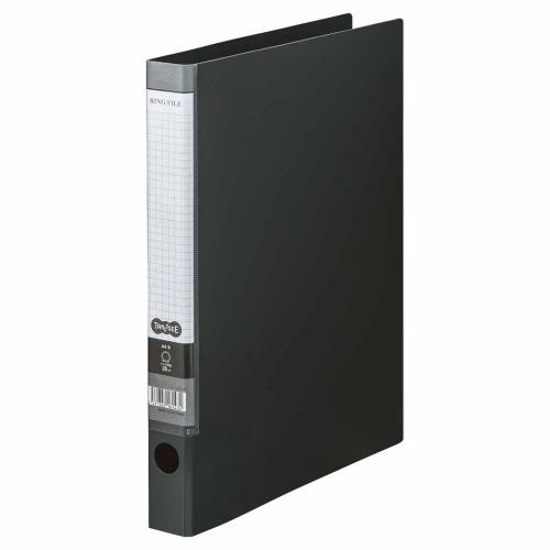 TANOSEE Oリングファイル A4タテ 2穴 170枚収容 背幅35mm ダークグレー 1セット(10冊)