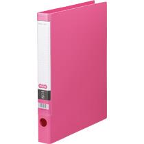 TANOSEE Oリングファイル A4タテ 2穴 170枚収容 背幅35mm ピンク 1セット(10冊)