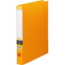 TANOSEE Oリングファイル A4タテ 2穴 170枚収容 背幅35mm オレンジ 1セット(10冊)
