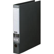TANOSEE Oリングファイル A4タテ 2穴 250枚収容 背幅44mm ダークグレー 1セット(10冊)