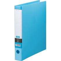 TANOSEE Oリングファイル A4タテ 2穴 250枚収容 背幅44mm ライトブルー 1セット(10冊)