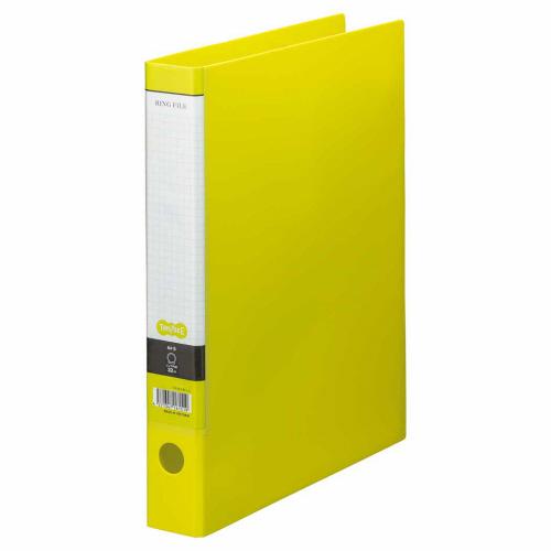 TANOSEE Oリングファイル A4タテ 2穴 250枚収容 背幅44mm ライトグリーン 1セット(10冊)