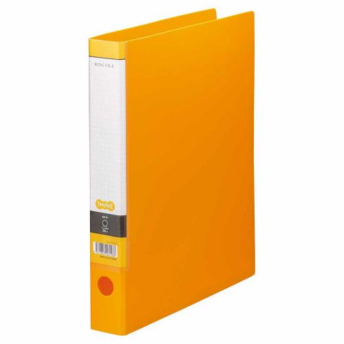 TANOSEE Oリングファイル A4タテ 2穴 250枚収容 背幅44mm オレンジ 1セット(10冊)