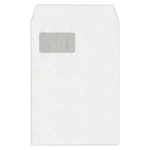 ハート 透けない封筒 ケント グラシン窓 テープ付 A4 XEP730 1セット(500枚:100枚×5パック)