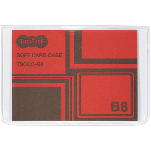 TANOSEE ソフトカードケース B8 1セット(100枚)