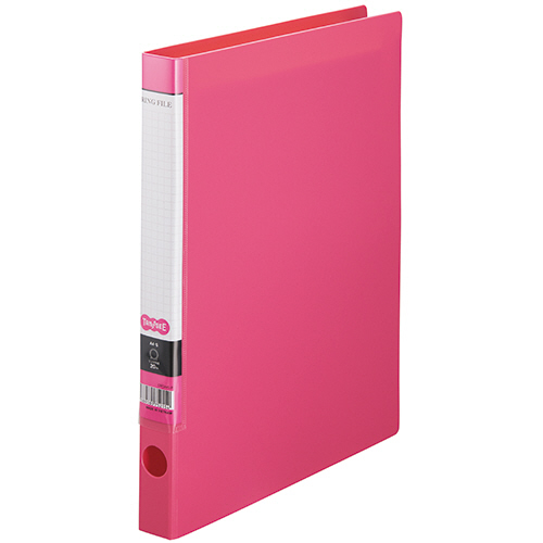 TANOSEE Oリングファイル A4タテ 2穴 150枚収容 背幅32mm ピンク 1セット(10冊)