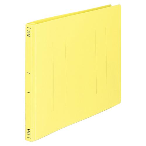 コクヨ フラットファイル(PP) B4ヨコ 150枚収容 背幅20mm 黄 フ-H19Y 1セット(10冊)