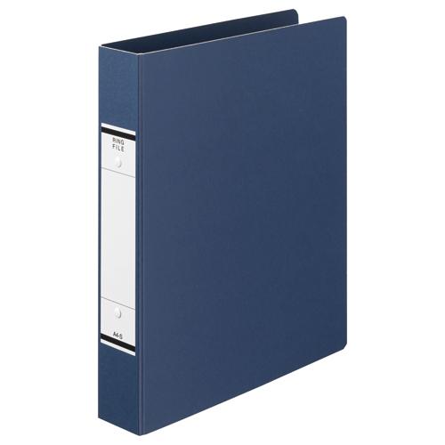 TANOSEE Oリングファイル(紙表紙) A4タテ 2穴 320枚収容 背幅52mm 青 1セット(10冊)