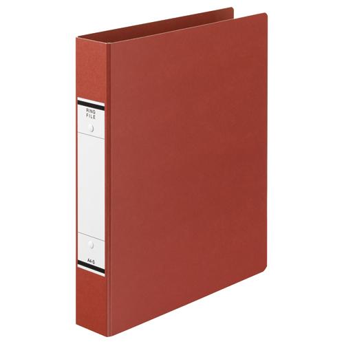 TANOSEE Oリングファイル(紙表紙) A4タテ 2穴 320枚収容 背幅52mm 赤 1セット(10冊)