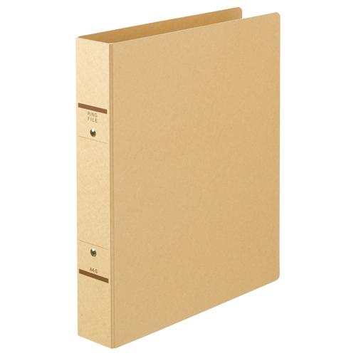 TANOSEE Oリングファイル(紙表紙) A4タテ 2穴 320枚収容 背幅52mm クラフト 1セット(10冊)