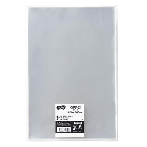 TANOSEE OPP袋 フラット 200×300mm 1セット(500枚:100枚×5パック)