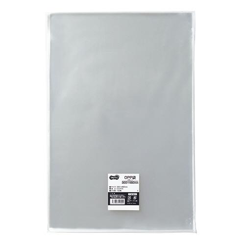 TANOSEE OPP袋 フラット 300×450mm 1セット(500枚:100枚×5パック)