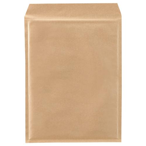 TANOSEE クッション封筒エコノミー A4ワイド用 内寸260×350mm 茶 1セット(200枚:100枚×2パック)