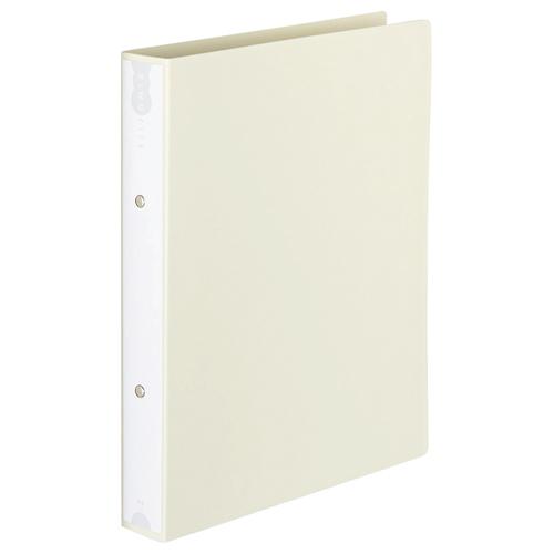 TANOSEE リングファイル(PP表紙) A4タテ 2穴 260枚収容 背幅42mm オフホワイト 1セット(10冊)