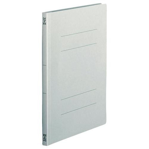 TANOSEE フラットファイル(スタンダードカラー) A4タテ 150枚収容 背幅18mm グレー 1セット(200冊:10冊×20パック)