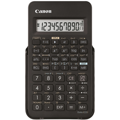 キヤノン 関数電卓 F-605G 仮数10桁、指数2桁 関数機能(154種類)、ハードカバー付 0891C003 1セット(10台)