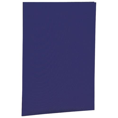 ナカバヤシ 証書ファイル 布クロス A4 二つ折り 同色コーナー固定タイプ 紺 FSH-A4B 1セット(10冊)