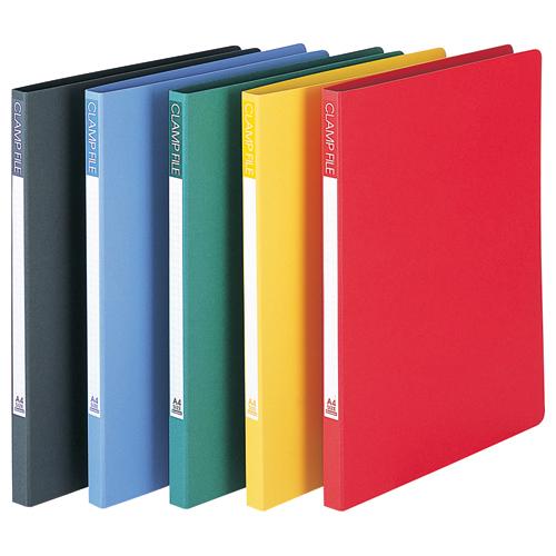 ビュートン クランプファイル A4タテ 100枚収容 背幅17mm ブルー SCL-A4-B 1セット(10冊)