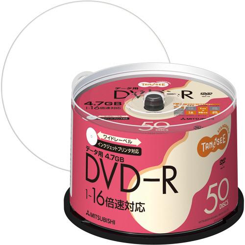 TANOSEE データ用DVD-R 4.7GB 1-16倍速 ホワイトワイドプリンタブル スピンドルケース DHR47JP50T 1セット(300枚:50枚×6パック)