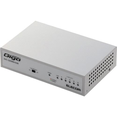 エレコム 1000BASE-T対応 スイッチングハブ 5ポート メタル筐体 ホワイト EHC-G05MN-HJW 1セット(3台)