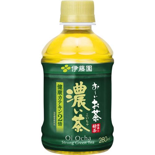 伊藤園 おーいお茶 濃い茶 280ml ペットボトル 1ケース(24本)
