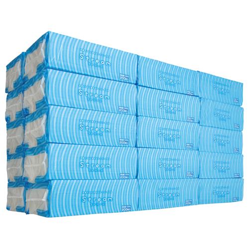 太洋紙業 水洗トイレに流せるペーパータオル ストリーム STM2025 1セット(5000枚:200枚×25パック)
