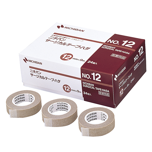 ニチバン サージカルテープ・ハダ No.12 12mm×9m STH12 1セット(72巻:24巻×3箱)