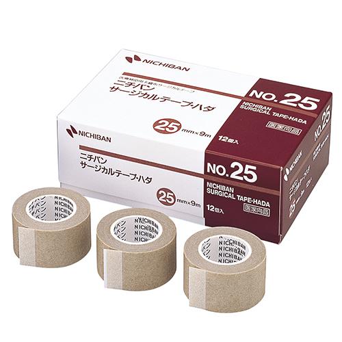 ニチバン サージカルテープ・ハダ No.25 25mm×9m STH25 1セット(36巻:12巻×3箱)