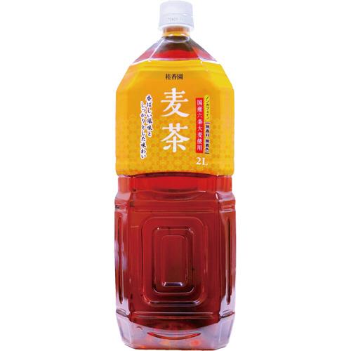 桂香園 麦茶 2L ペットボトル 1ケース(6本)