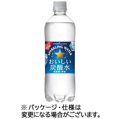 ポッカサッポロ おいしい炭酸水 500ml ペットボトル 1ケース(24本)