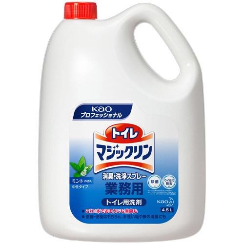 花王 トイレマジックリン 消臭・洗浄スプレー ミントの香り 業務用 4.5L/本 1セット(4本)