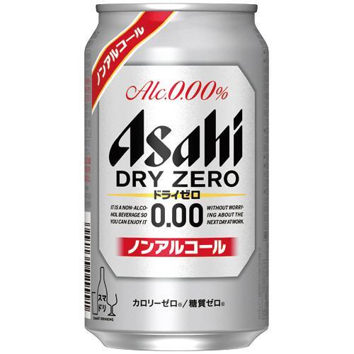 アサヒビール ドライゼロ 350ml 缶 1ケース(24本)