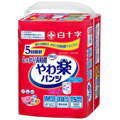 白十字 サルバ Dパンツ しっかりガード長時間 M-L 男女共用 1セット(54枚:18枚×3パック)