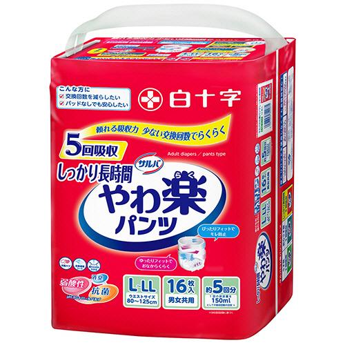 白十字 サルバ Dパンツ しっかりガード長時間 L-LL 男女共用 1セット(48枚:16枚×3パック)
