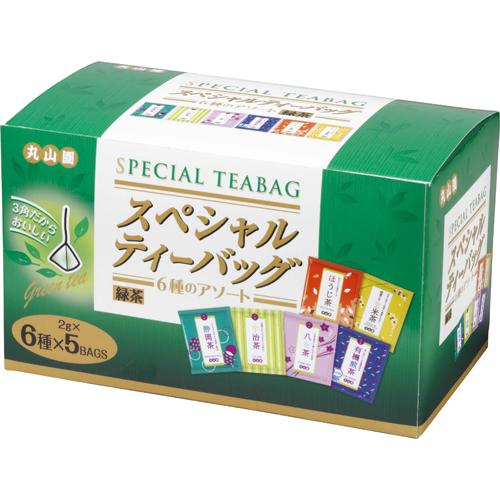 丸山園 スペシャル緑茶ティーバッグ 6種のアソート 2g 1セット(90バッグ:30バッグ×3箱)