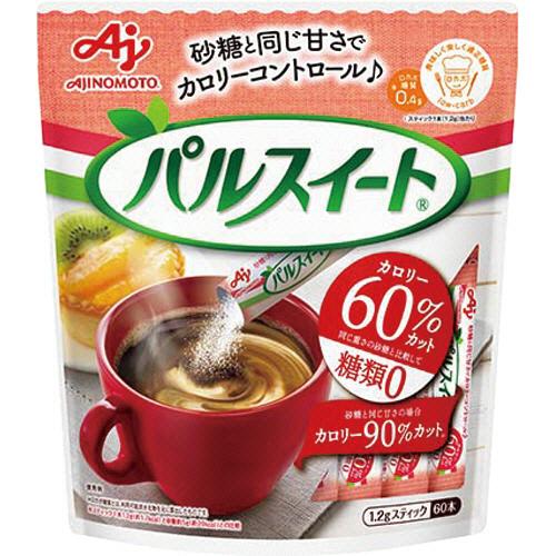 味の素 パルスイート スティック 1.2g 1セット(120本:60本×2パック)