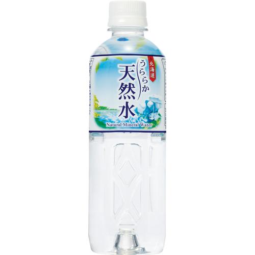 神戸居留地 北海道 うららか天然水 500ml ペットボトル 1セット(96本:24本×4ケース)
