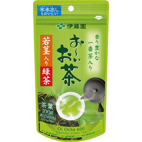 伊藤園 おーいお茶 若芽・若茎入り緑茶 100g/袋 1セット(3袋)
