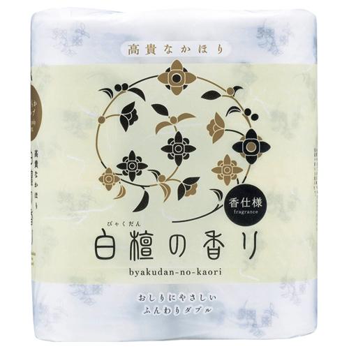 四国特紙 トイレットペーパー 白檀の香り ダブル 芯あり 30m 1セット(48ロール:4ロール×12パック)