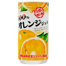 サンガリア 100%オレンジジュース 190g 缶 1ケース(30本)