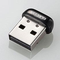 エレコム USB無線超小型LANアダプタ 11n・g・b 150Mbps ブラック WDC-150SU2MBK 1個
