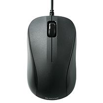 エレコム USB光学式マウス 3ボタン RoHS指令準拠 Sサイズ ブラック M-K5URBK/RS 1個