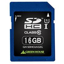 グリーンハウス SDHCカード 16GB UHS-I Class10 GH-SDHCUA16G 1枚
